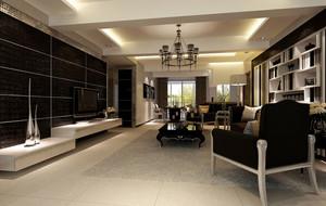 三室两厅后现代主义风格客厅装修图
