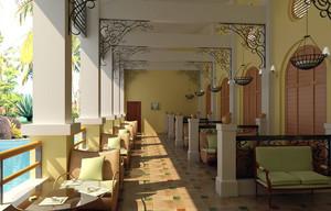 2016高端欧式咖啡厅装修设计效果图