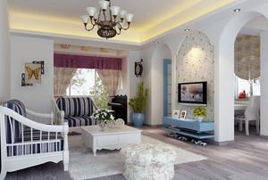 惊艳地中海风格194平米别墅装修设计图