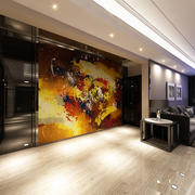 别墅客厅抽象画装饰