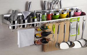 收纳好帮手:8款厨房置物架设计效果图