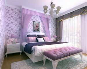 欧式小户型家装卧室背景墙装修设计效果图