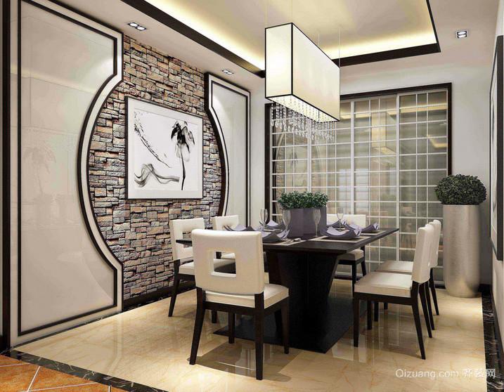 混搭两居室室内餐厅背景墙装潢效果图