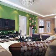 60平米小户型欧式电视背景墙装修设计效果图