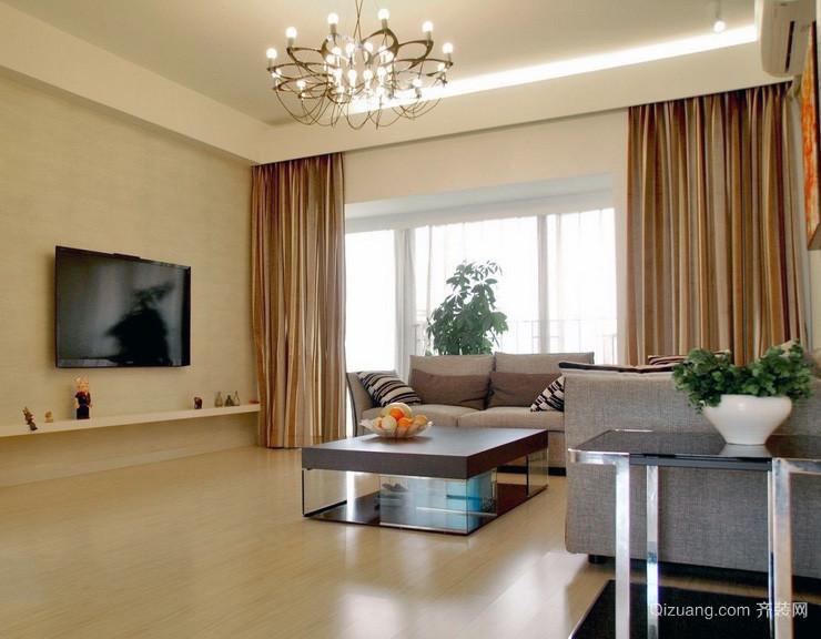 100平米大户型欧式客厅窗帘装修效果图实例