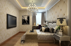 2016尊贵三居室后现代卧室装修效果图