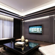 别墅小客厅电视墙