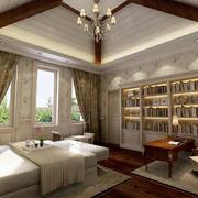 别墅大书房图片