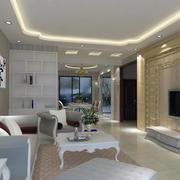 2016别墅型欧式家装客厅装修效果图实例