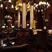 奢华大型咖啡厅展示