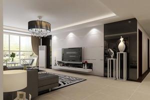 2016单身公寓后现代风格客厅装饰图