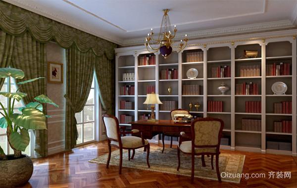 2016大户型精致的欧式书房室内装修效果图鉴赏