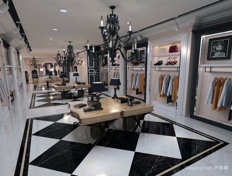 现代都市精致的小服装店装修效果图欣赏