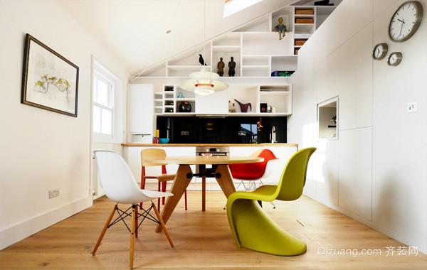 巧妙利用空间的小户型55平米阁楼装修实例