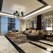 百万豪宅后现代主义风格大客厅效果图
