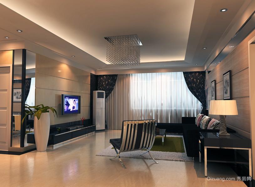 三居室家装现代简约风格客厅室内装修效果图