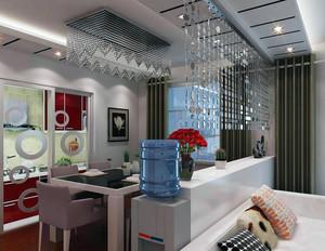 现代精美的大户型客厅珠帘隔断装修效果图