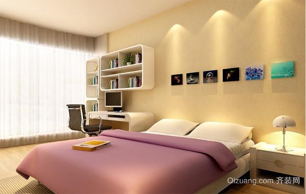 90平米大户型欧式家居卧室背景墙装修设计效果图