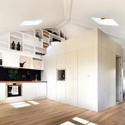 小户型白色壁柜展示