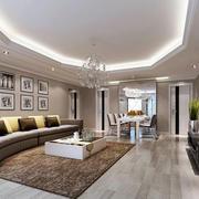 现代风格140平米室内客厅装潢设计效果图