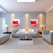 前卫大气100平现代简约家装客厅样板间