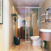 都市唯美的小户型欧式小卫生间装修效果图