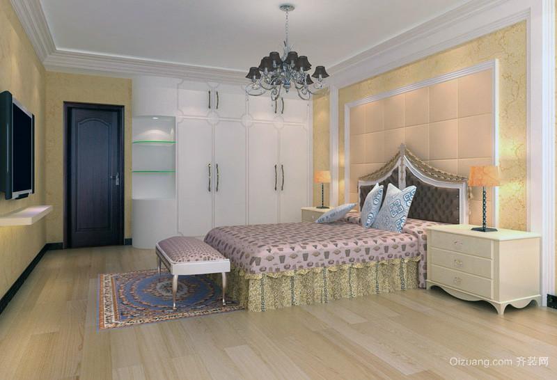 2016欧式风格两室两厅卧室装修效果图鉴赏