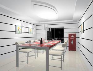 大户型简欧风格餐厅吊顶装修效果图实例