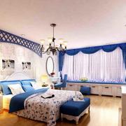 别墅唯美卧室装潢