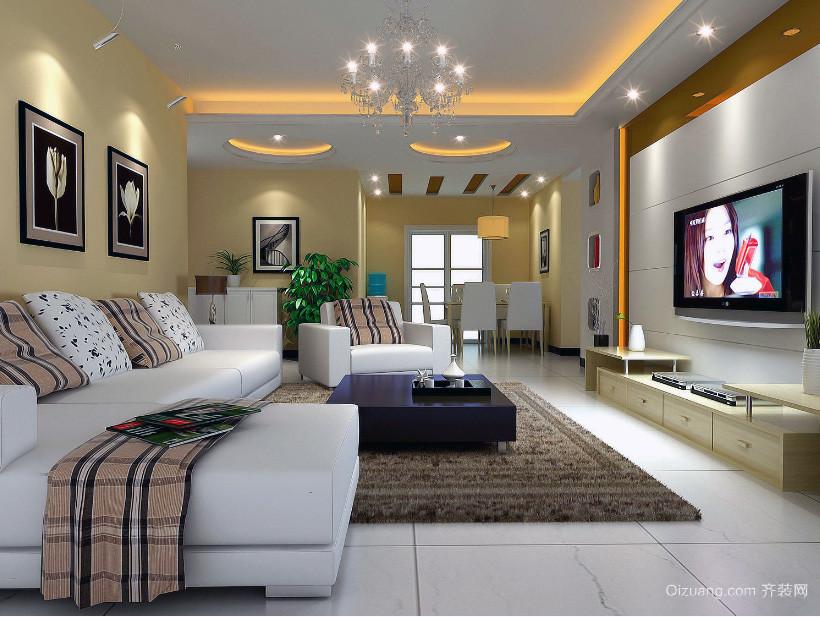 100平米大户型欧式两房一厅客厅装修效果图
