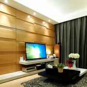 宜家风公寓客厅电视背景隐形门效果图