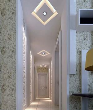 现代欧式别墅室内走廊吊顶装修效果图