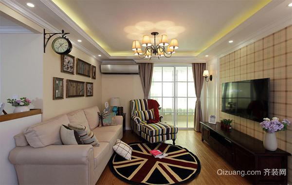 2016欧式小型公寓客厅吊顶装修效果图