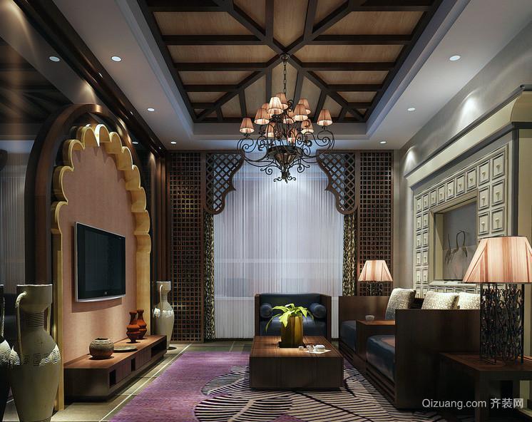 大户型东南亚风格客厅装修效果图案例
