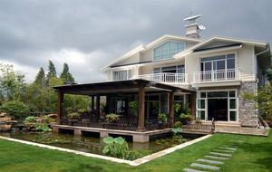 现代时尚独栋别墅外观设计户型效果图实例