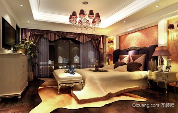 欧式时尚家居装潢卧室背景墙装修效果图