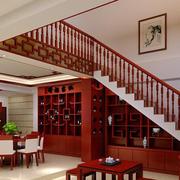 红木楼梯图片欣赏