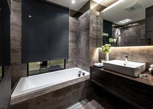 黑白配:简约155平米三居室家庭装潢效果图