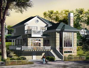 欧式建筑小别墅设计装修效果图实例