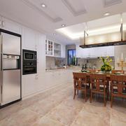 家庭开放式餐厅厨房展示