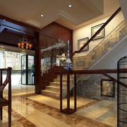 楼梯玻璃扶手展示