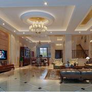 新古典风格大户型客厅装修效果图案例