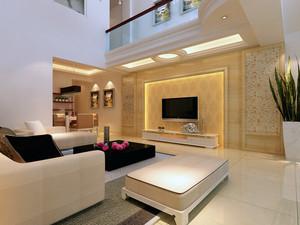 二居室欧式客厅电视墙装修设计效果图鉴赏