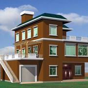 红色房屋设计图