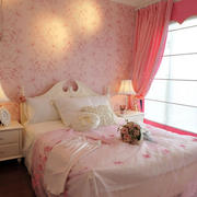 田园卧室床头壁纸