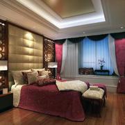 时尚的卧室背景墙