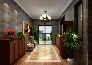 155平米四居室美式风格入户花园效果图