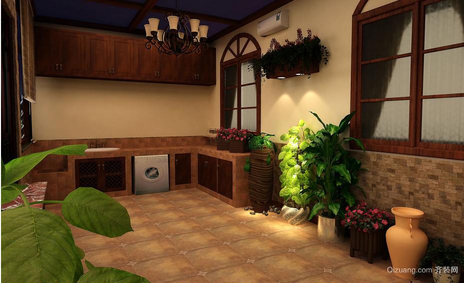 北美风情:家居入户花园装修效果图