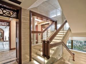 传统与现代:新中式风格别墅楼梯设计图