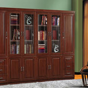 传统美式风格实木书柜装修效果图